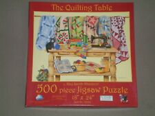 SUNSOUT 500 Piece Jigsaw Puzzle THE QUILTING TABLE - COMPLETE