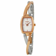 DKNY Women's Square Stainless Steel Case Wristwatches