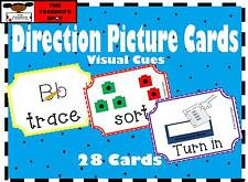 Direction Picture Cards - Visual Aid (Electronic File)  Autism, Special Needs