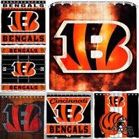 "Cincinnati Bengals 72"" x72"" Waterproof Fabric Shower Curtain Bathroom Decor"
