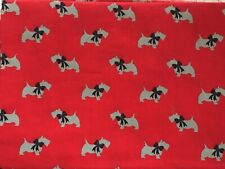 Boston Terriers Dogs Faces Pets Bow Ties Red Cotton Fabric Print BTY D778.52