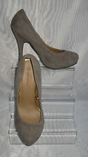 WOMENS ATMOSPHERE Brown Faux Suede Slim High Heel Court Shoes Size:5/38(WHS89)
