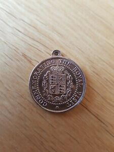 Antique 1880s Medal Commmorating - Vist Of TRH The Prince And Princess Of Wales