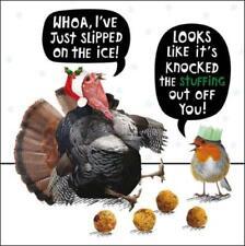 Pavo relleno Gracioso Crackerjack tarjetas de felicitación Tarjeta Animal Humor Navidad