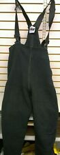 New U.S. Military Black Polyester Fleece Cold Weather Overalls / Size Large