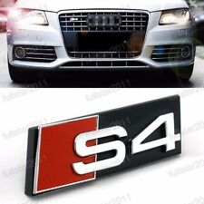 NEW BLACK AUDI S4 GRILL BADGE 3D ABS SLINE Front Racing Grill Grille Emblem