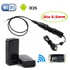 6LED 5.5mm Endoscope Waterproof Inspection Camera Micro USB+WIFI BOX For iPhone
