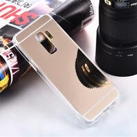 Carcasa Funda Mirror Samsung Galaxy A7 A8 2018 S9 Note 9 5 J4 J6 Plus Phone Case