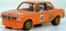 Wiking NEW HO 1/87 BMW 2002 Jägermeister Rennversion racing car in bright orange