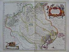 MAPPA TERRITORIO TREVIGIANO 1640 VENETO  VENEZIA TREVISO PADOVA BELLUNO