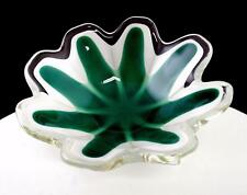 "FLYGSFORS GLASSWORKS SA SIGNED COQUILLE KEDELV DESIGN GREEN 5 3/8"" ROUND BOWL"