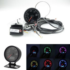62mm/2.5in 7 Colors LCD Display 3 Modes Car Turbo Boost Gauge with Voltage Meter