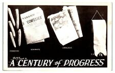 Rppc Corncobs Newspaper Catalogue Toilet Paper 1933 Chicago Worlds Fair Postcard
