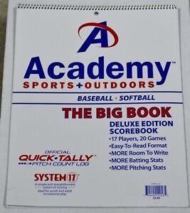 Academy Sports & Outdoors Baseball & Softball Deluxe Edition Scorebook NEW