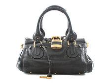 Authentic Chloe Large black Paddington Satchel Shoulder/Hand bag