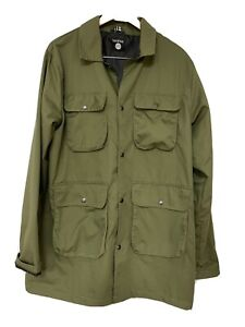 Boohoo Man Khaki Mens Anorak Jacket XL, Light weight pockets, button up