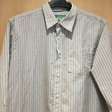 Saint George by Duffer Long Sleeved Shirt Mens XL 100% Cotton Striped St. Smart