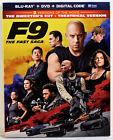 F9 THE FAST (& Furious) SAGA (Blu-Ray, DVD, Digital, Slipcover, 2021) NEW SEALED