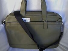 Coach Hudson Smooth Leather Briefcase Bag in Surplus Green - F71561 - NWT $450