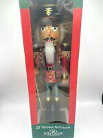 "Soldier Nutcracker Large Red Green Wood Decor Christmas 20"" Kurt Adler"