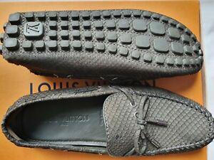 LOUIS VUITTON Schuhe Loafer Gr. 41 (UK 7) - UVP € 1.460,-- Phyton-Leder NEU ORIG