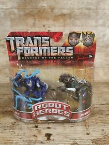 Jolt & Ravage Transformers Revenge of the Fallen Robot Heroes 2009 Hasbro New