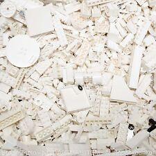 LEGO 2lb WHITE Bulk Pound Lot-SANITIZED-PAIRS MATCHED-Brick Piece Part Random As