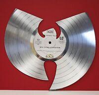 "Wu-Tang Silver Laser Cut Limited Edition 12"" LP Record Wall Display"