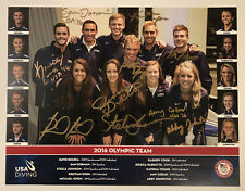"""2016 USA Olympic Diving Team Autographed Picture - 11"""" by 8.5"""""""