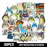 50Pcs My Neighbor Totoro Stickers Stationery Suitcase Laptop Waterproof Decal