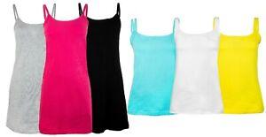 Women's Short/Long/Laced Tank Top Cami Colored Cotton Vest Casual Basic Plain