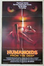 HUMANOIDS FROM THE DEEP ORIGINAL 1980 1SHT MOVIE POSTER FLD EX