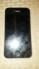 Apple iPhone 4s  Black Smartphone Clean IMEI, Broken-for part only