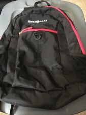 Swiss Gear Black And Pink Back Pack Comfort Fit, Sa6716