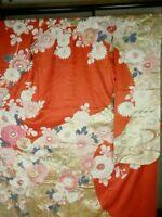 Japan Kimono Butterfly Furisode Wedding,  Art (91)