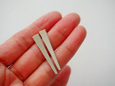 Spike Triangle Sterling Silver Stud Earrings