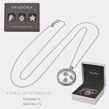 Authentic Pandora Locket Necklace & Celestial Charms w/ BOX 590529-60,792020CZ