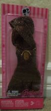 BARBIE FASHION FEVER BROWN SPARKLY HOODY DRESS *Nu*