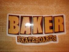 BAKER SKATEBOARDS OG ICONIC BOXED LETTERS GOLD LOGO DIE CUT SKATEBOARD STICKER
