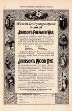 Advertisement(AD)-Johnson's Prepared Wax-Wood Dye/1915-Popular Mechanics