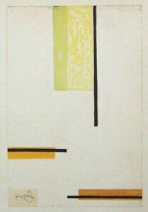 "FRANTISEK (FRANK) KUPKA mounted repro print 12 x 10"" 1964 abstract FK51"
