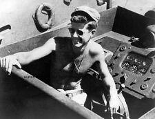 "President Lt. John F. Kennedy aboard the PT-109 8""x 10"" World War II Photo 434"