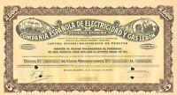 Espanola de Electricidad y Gas Lebon SA, cert. de 5 obligacion, Barcelona, 1950