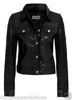 taille 10 12 14 Nouvelle Veste de motard Womens simili cuir manteau DAMES PVC