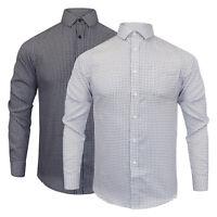 Men's Process Black By Brave Soul Long Sleeve Check Shirt In Black & White NEW