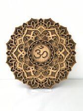 Om Multi Layered Laser Cut Mandala - Sacred, Ethnic, Spiritual Yoga Wall Decor