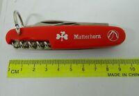 Coltellino multiuso MATTERHORN lama cavatappi apribottiglie acciaio inox FR132
