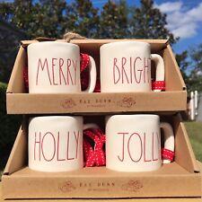 Rae Dunn MINI MUG ORNAMENTS Merry, Bright, Holly & Jolly Christmas Tree Decor