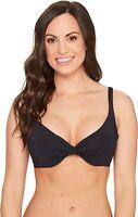 Bleu Rod Beattie Women's 236583 Black Bikini Top Swimwear Size 34D