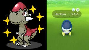 Pokémon Go *Shiny Shieldon, Cranidos* Guaranteed Catch in your Acc -Description-